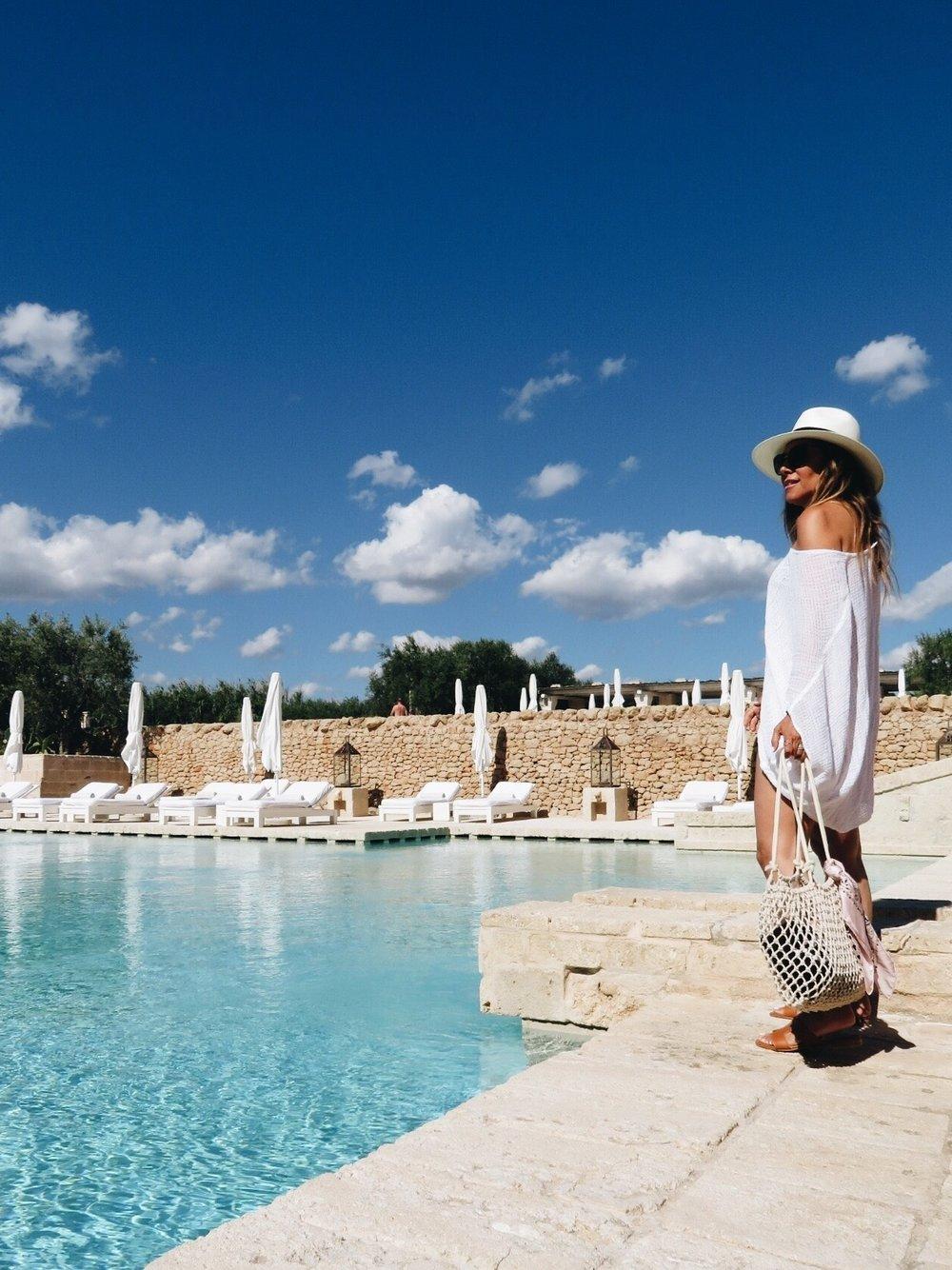 Poolside at the  Borgo Egnazia