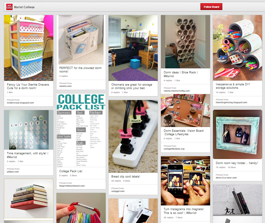 Leave it to a Red Fox for coming up with an actual useful use of Pinterest for a college!