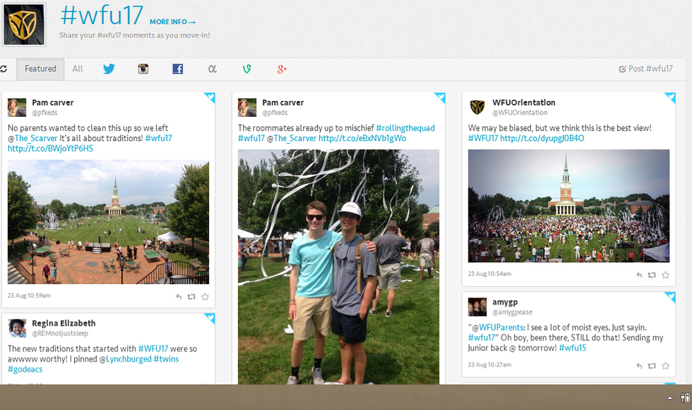 Wake Forest's Tagboard mania!