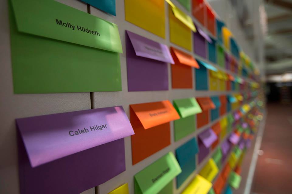 great social media ideas  wall of envelopes with