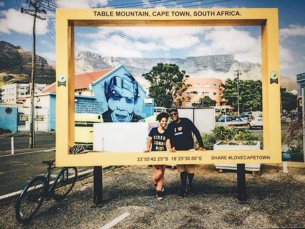 A physical photo-frame in Cape Town.