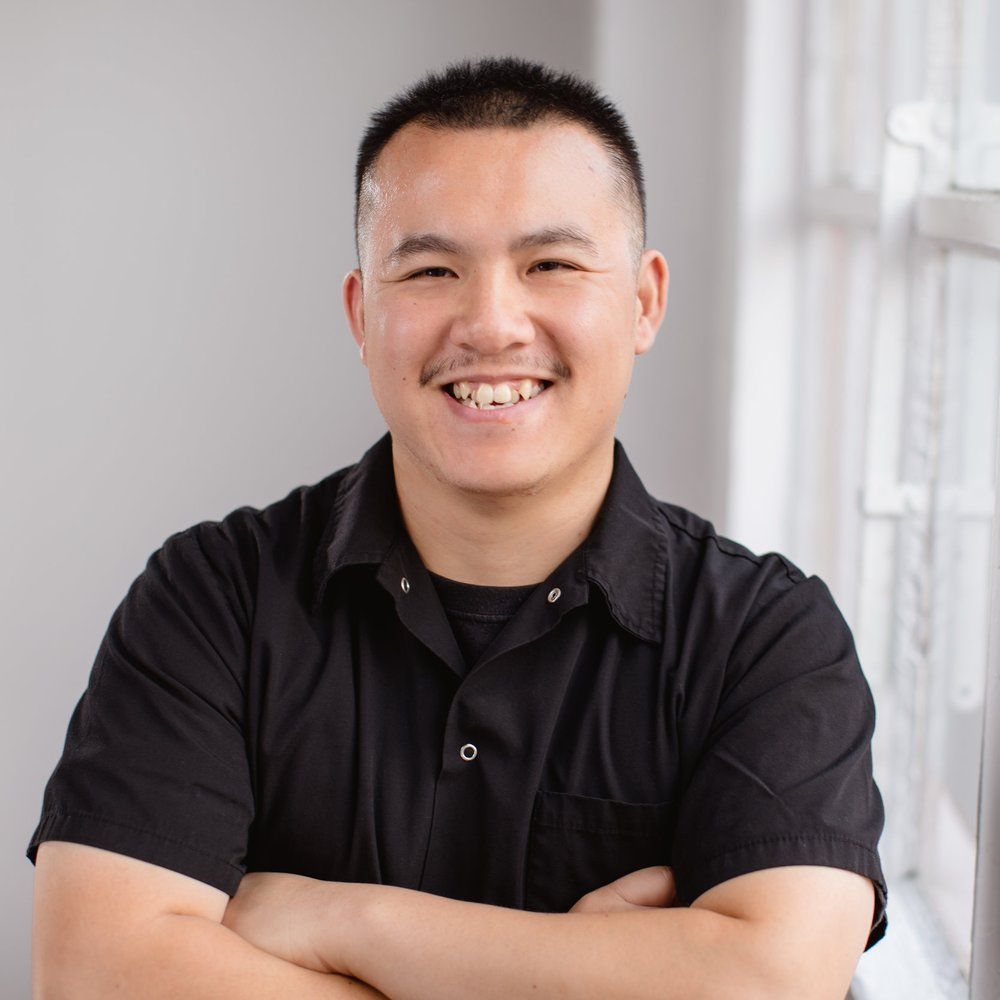 Tyson Hoang  Executive Sous Chef, equipment jangler product tagger, panda wrangler