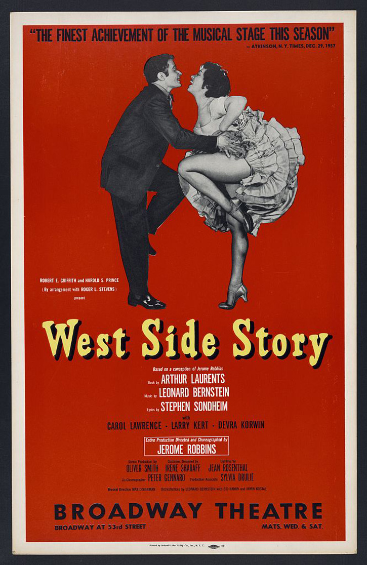 Poster from original production of West Side Story. New York: Artcraft, 1958. Artcraft Poster Collection, Prints and Photographs Division