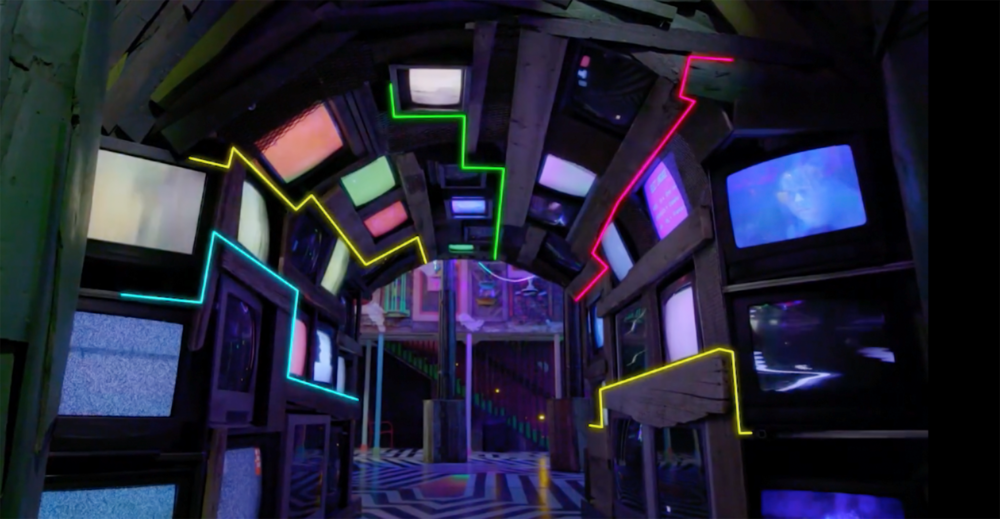 TV Tunnel in The House of Eternal Return - Courtesy of Brad Wolfley
