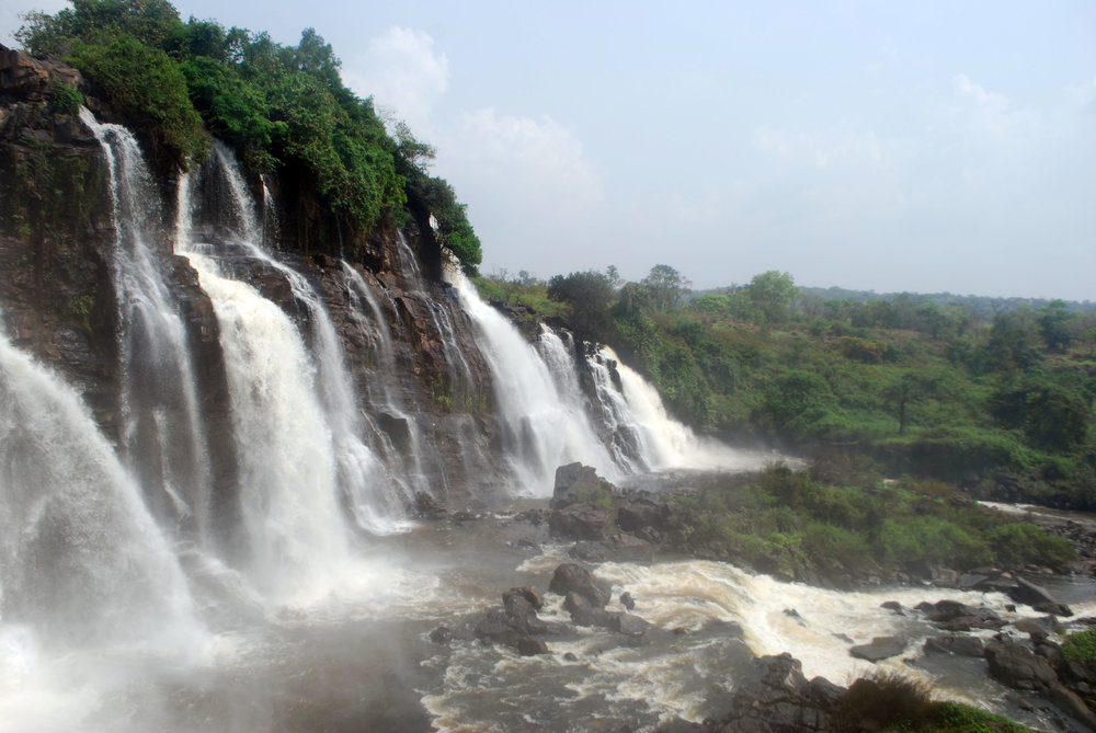 Boali Falls is the only tourist attraction I could find in the Bangui area before my arrival.