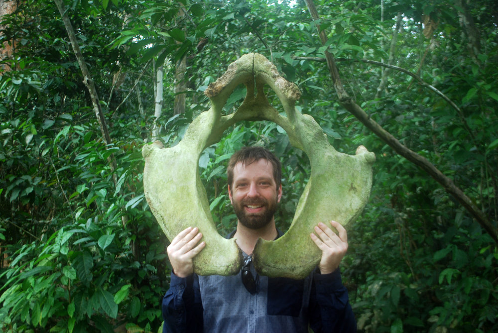 Me with what I think is an elephant hip-bone.