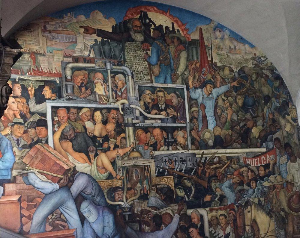 "Diego Rivera""s vision of the future Mexico City"