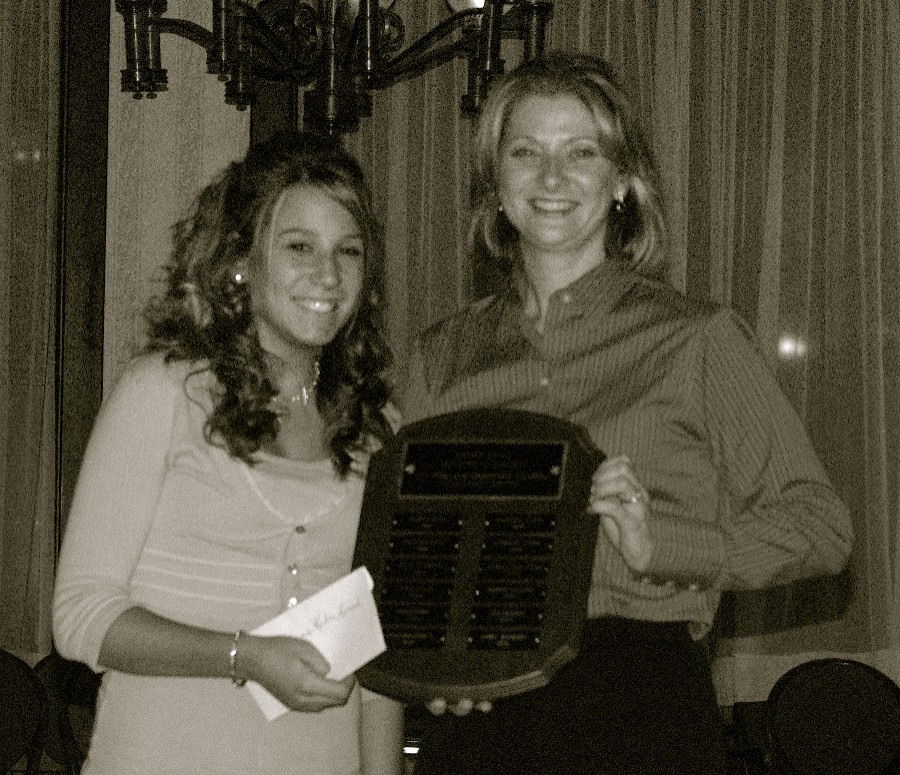 2006 Jim Kuhn Memorial Award winner with President Tracey Walker