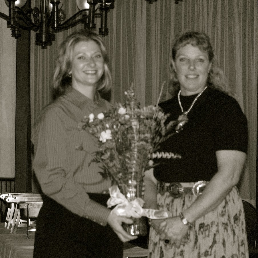 Volunteer of the Year winner Marilyn Weber with CLD President Tracey Walker
