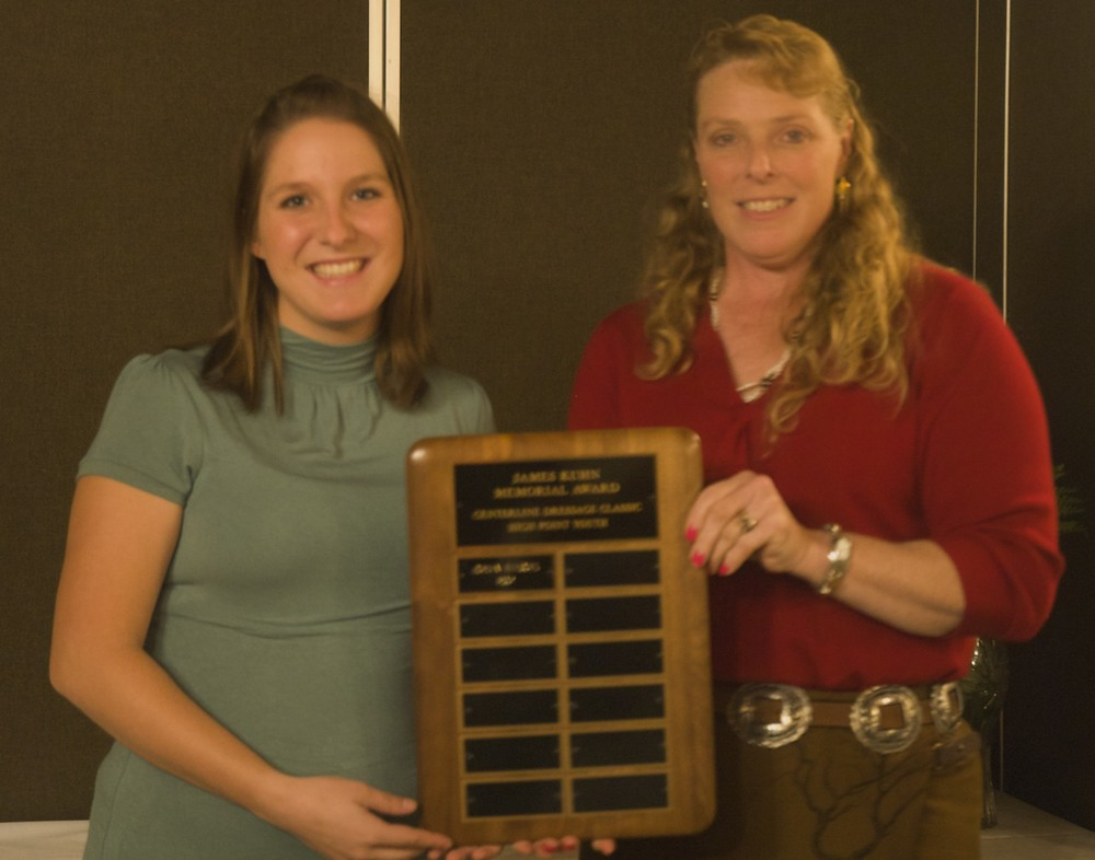 Jordan Meadows, winner of 2007 Jim Kuhn Memorial Award & Marilyn Weber