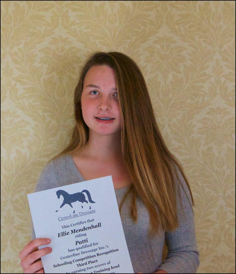 Training Level Schooling Division Res. Champion Ellie Mendenhall