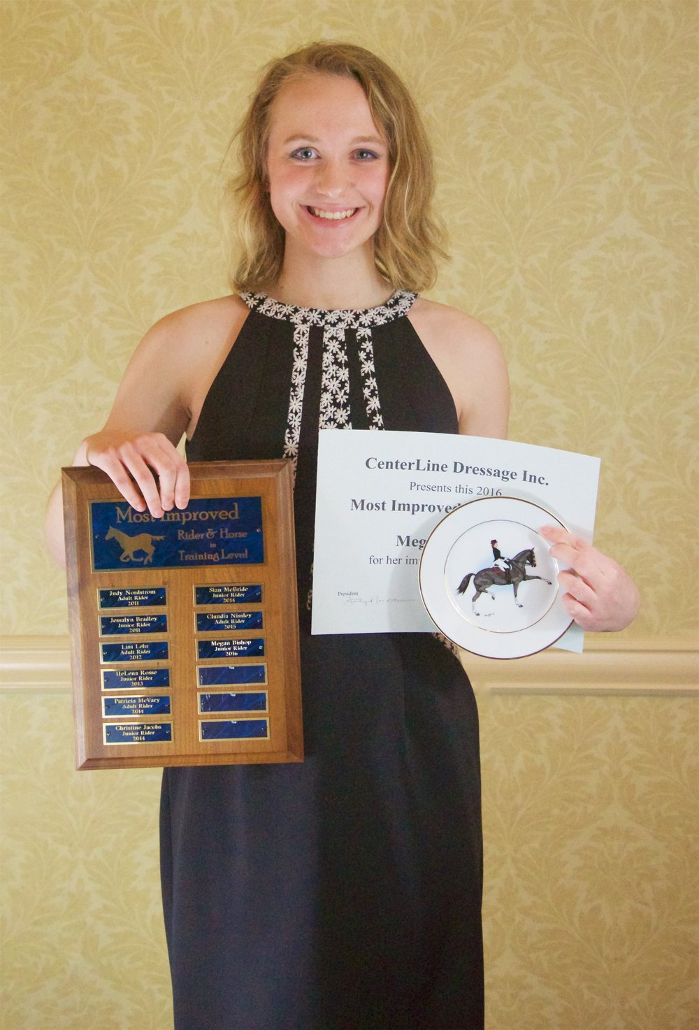 2016 Most Improved Rider of the Year at Training Level Megan Bishop