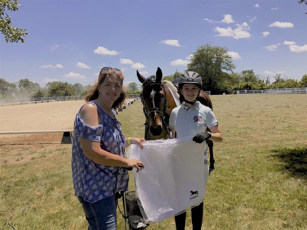 IceBreaker manager Teresa Litchfield with High Point winner Sofia Dietrich