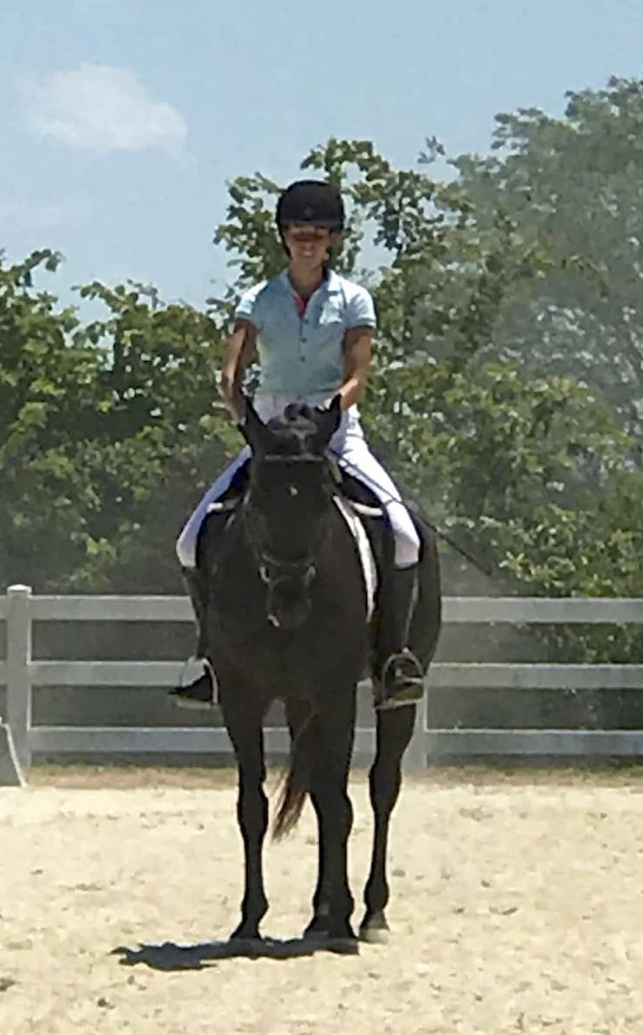 Renee Ellegood riding Noble Speck