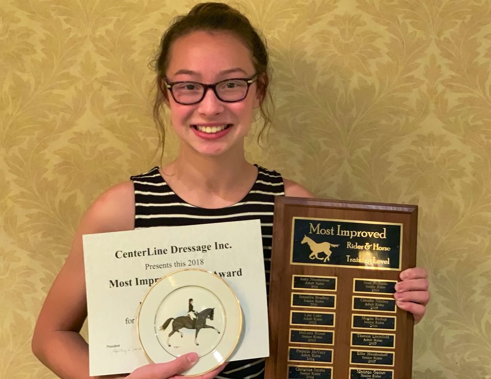 CLD's Most Improved Rider at Training Level Madison Godart