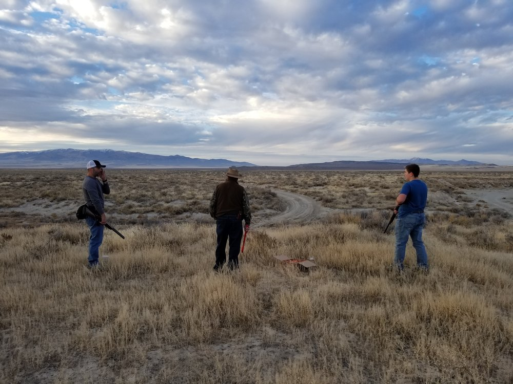 Haha, we drove around all day and hunted all day only to stop and use our fitness shoot trap. Best part is we were WAY out in the middle of nowhere. North West Part of the Salt Lake in Box Elder county. Near the ghost town of Kelton.