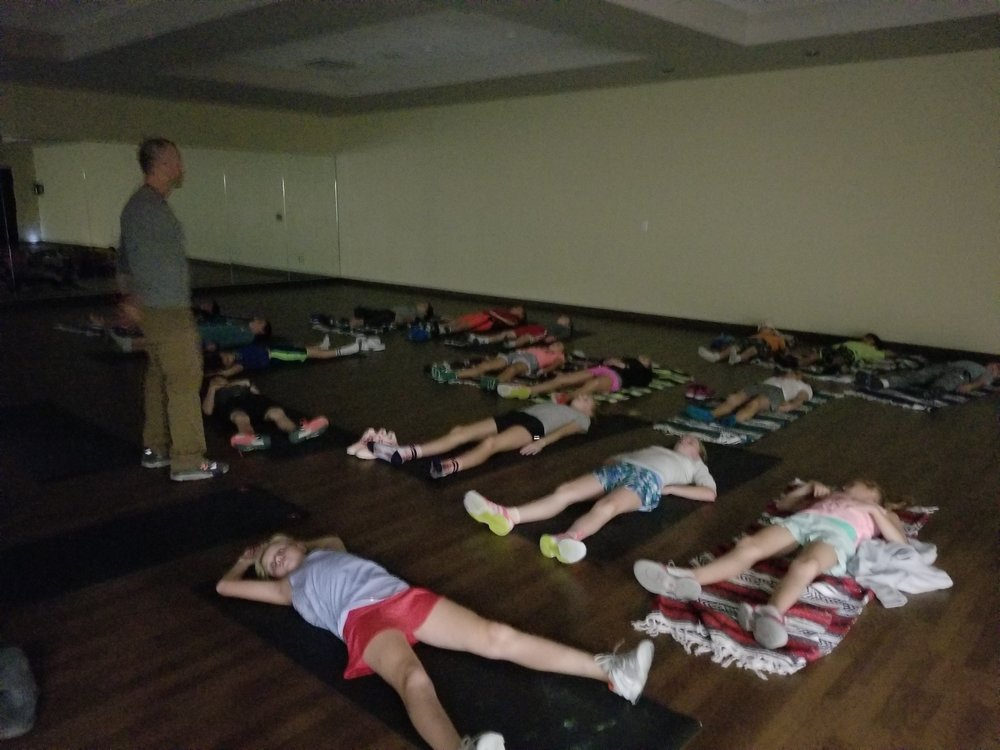 Thing is, none of the practice, schooling, development and/or etc. takes place until the body rests. Teaching kids to calm themselves and just relax/meditate at least 1x/day has value beyond measure. Plus it's COOL to watch! Proud of these kidlets!