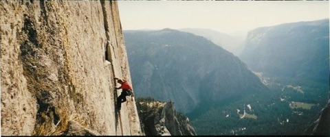 "Jesse Heer using his fitness!   ""Last time I was on Half Dome was literally 20yrs ago."""