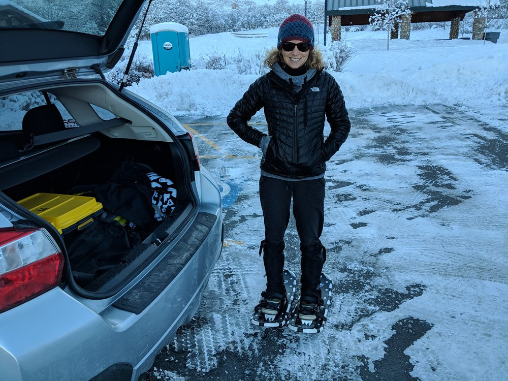 First time donning snowshoes 2019!