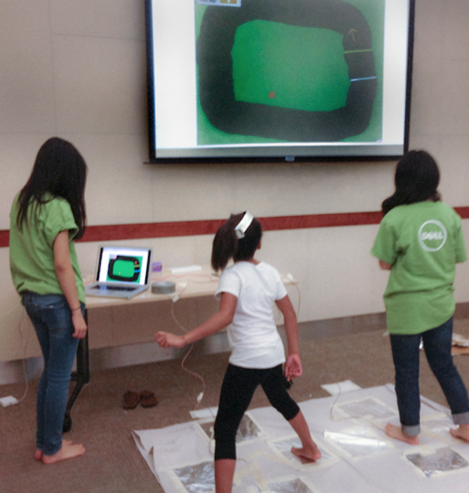 Students learned to spread healthy messages and healthy behaviors while designing the games. (Photo: Dell Children's Medical Center)
