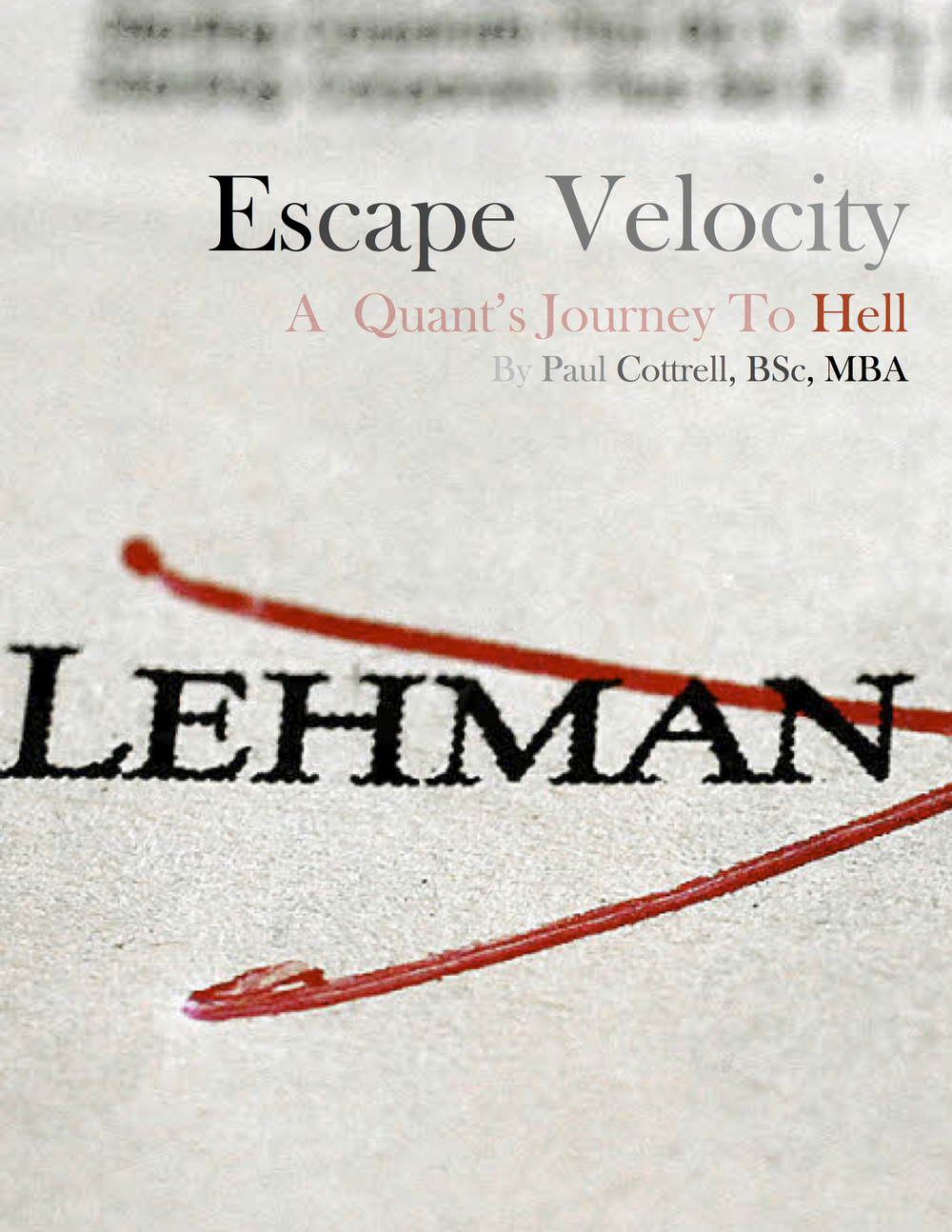 Cover for Escape Velocity,