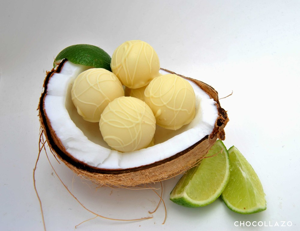 Coconut Lime Chocolate Truffles