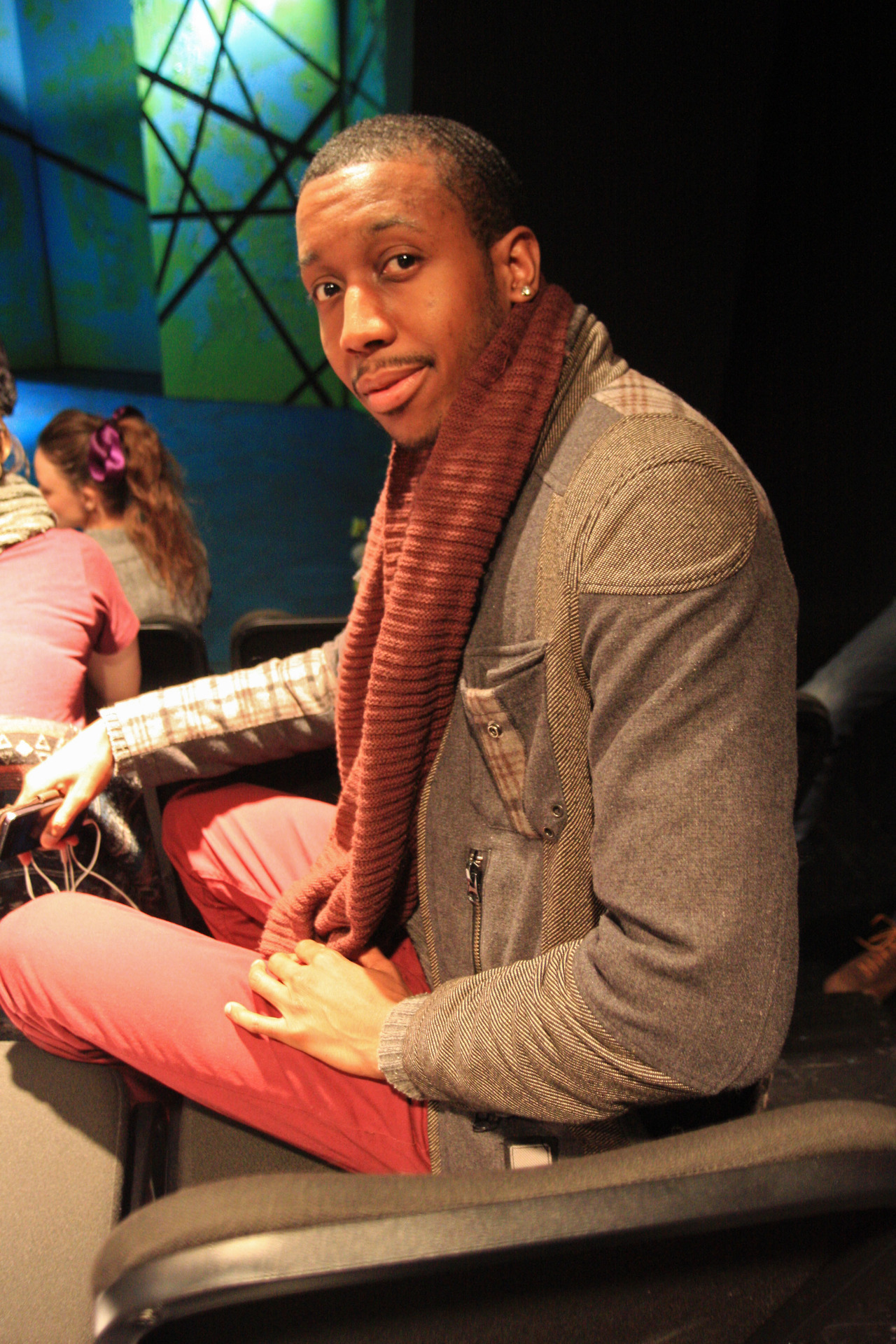#PeopleattheTheatre Monk and the Man by Ravin Patterson. Chelsea Repertory Company's e-Merging Artists 1-Act Play Festival. Photo by Christa Tandana