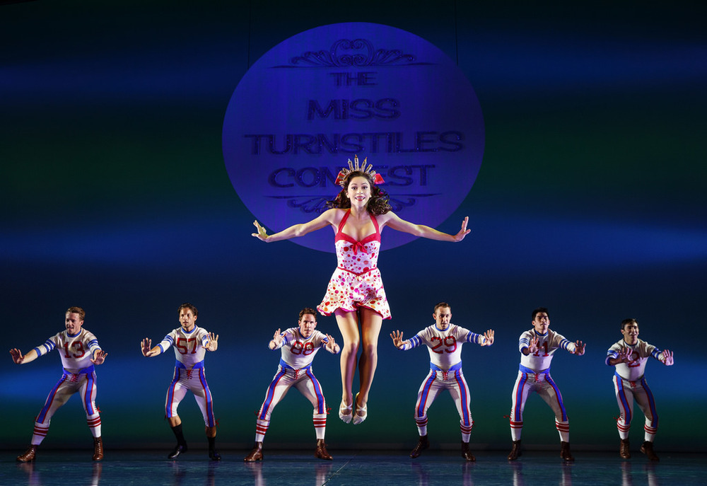 Megan Fairchild and the cast of On The Town, photo by Joan Marcus