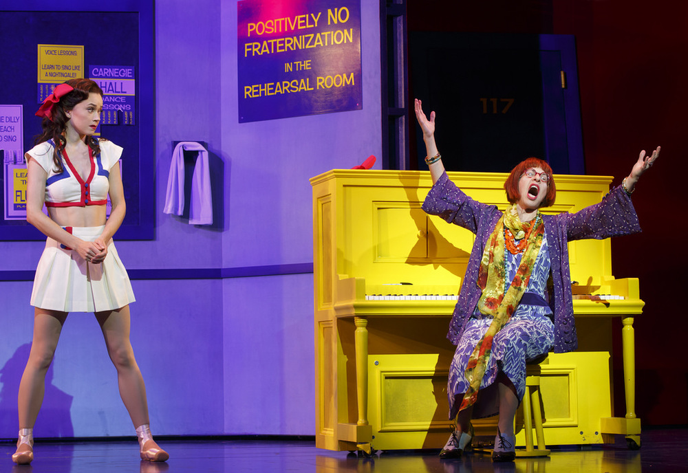 Megan Fairchild and Jackie Hoffman, photo by Joan Marcus