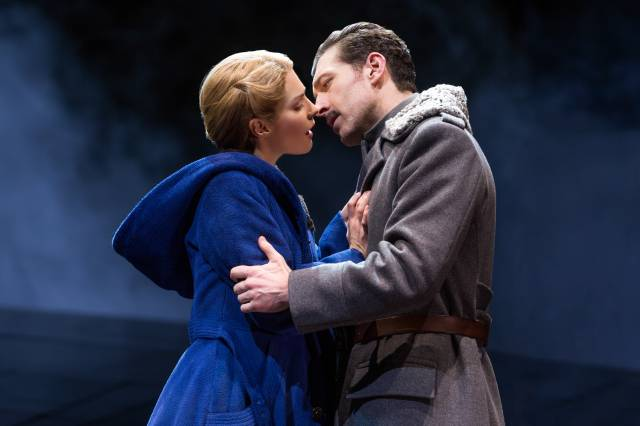 Kelli Barrett and Tam Mutu in  Doctor Zhivago  on Broadway. Photo by Matthew Murphy.
