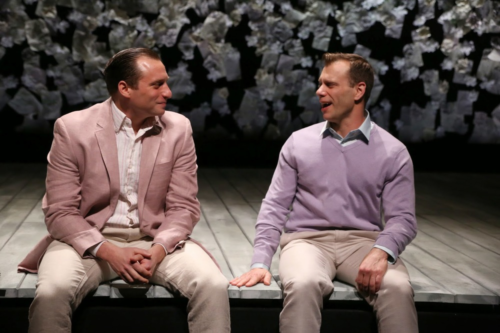 Zachary Fine and Noah Brody in  The Two Gentlemen of Verona . Photo by Gerry Goodstein