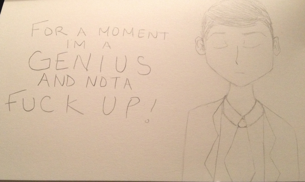 After each show, I love to draw a scene that had an impact on me. This closing line resonated so much with me. I just had to draw it.