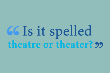 theatre vs theater
