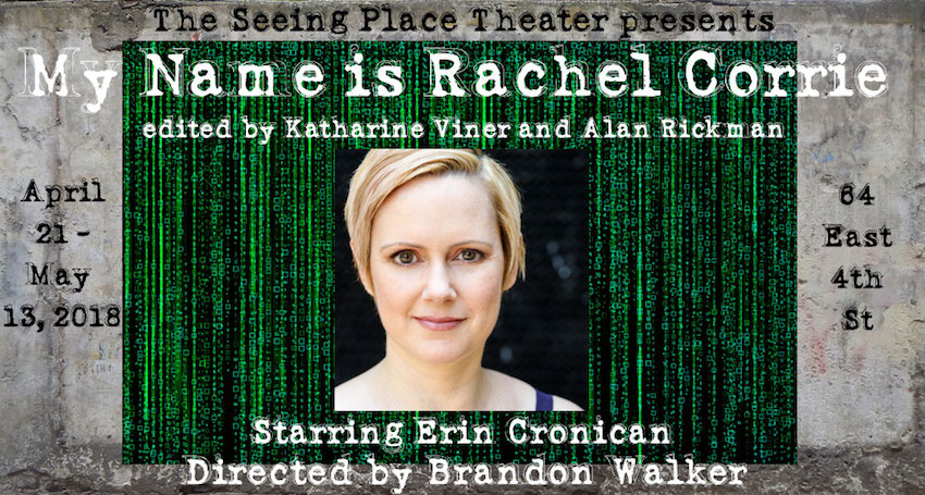 my name is rachel corrie, discount tickets, off-off broadway tickets