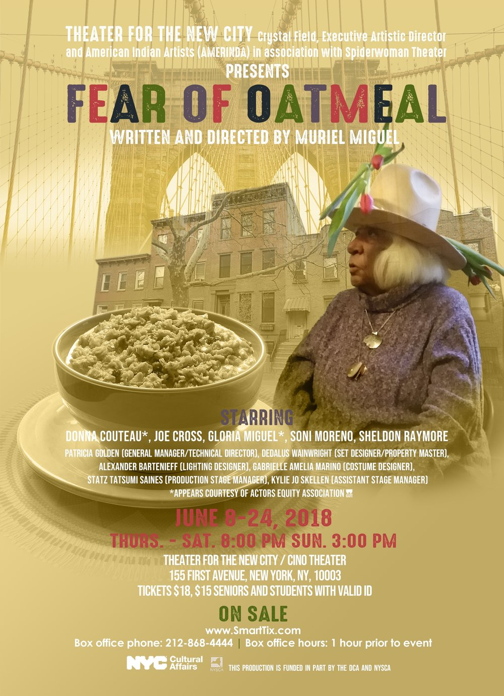 fear of oatmeal discount, fear of oatmeal tickets, theater for the new city