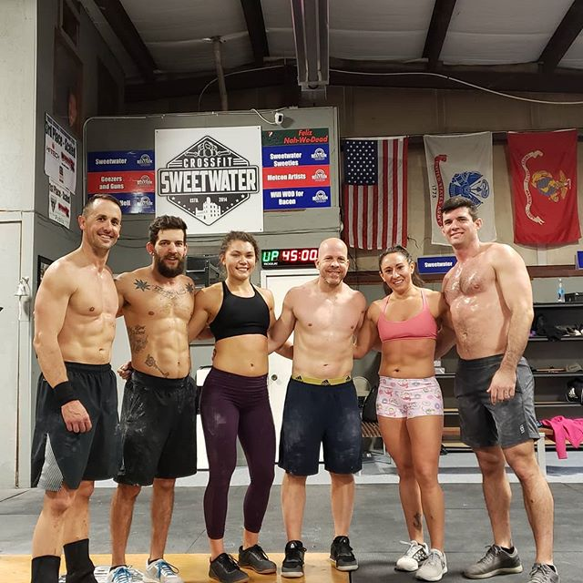 Saturday morning gainz #crossfitsweetwater #crossfit