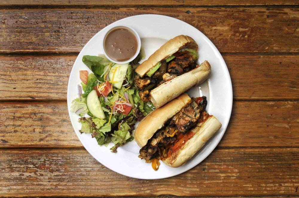Jerk Chicken Cheese Steak