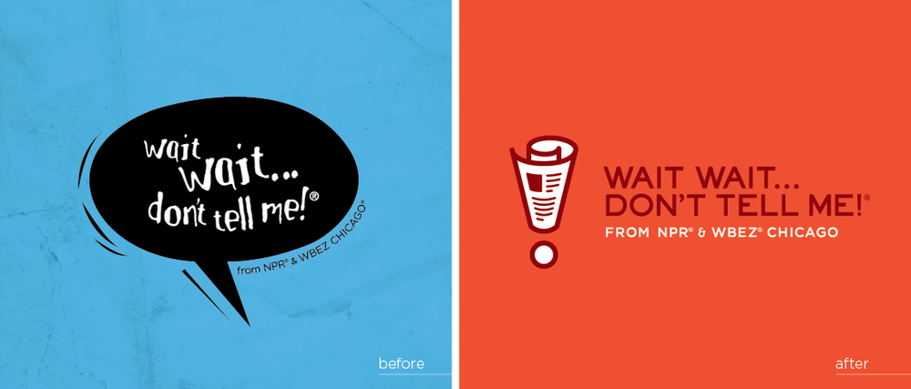 Before and after logos from the NPR blog