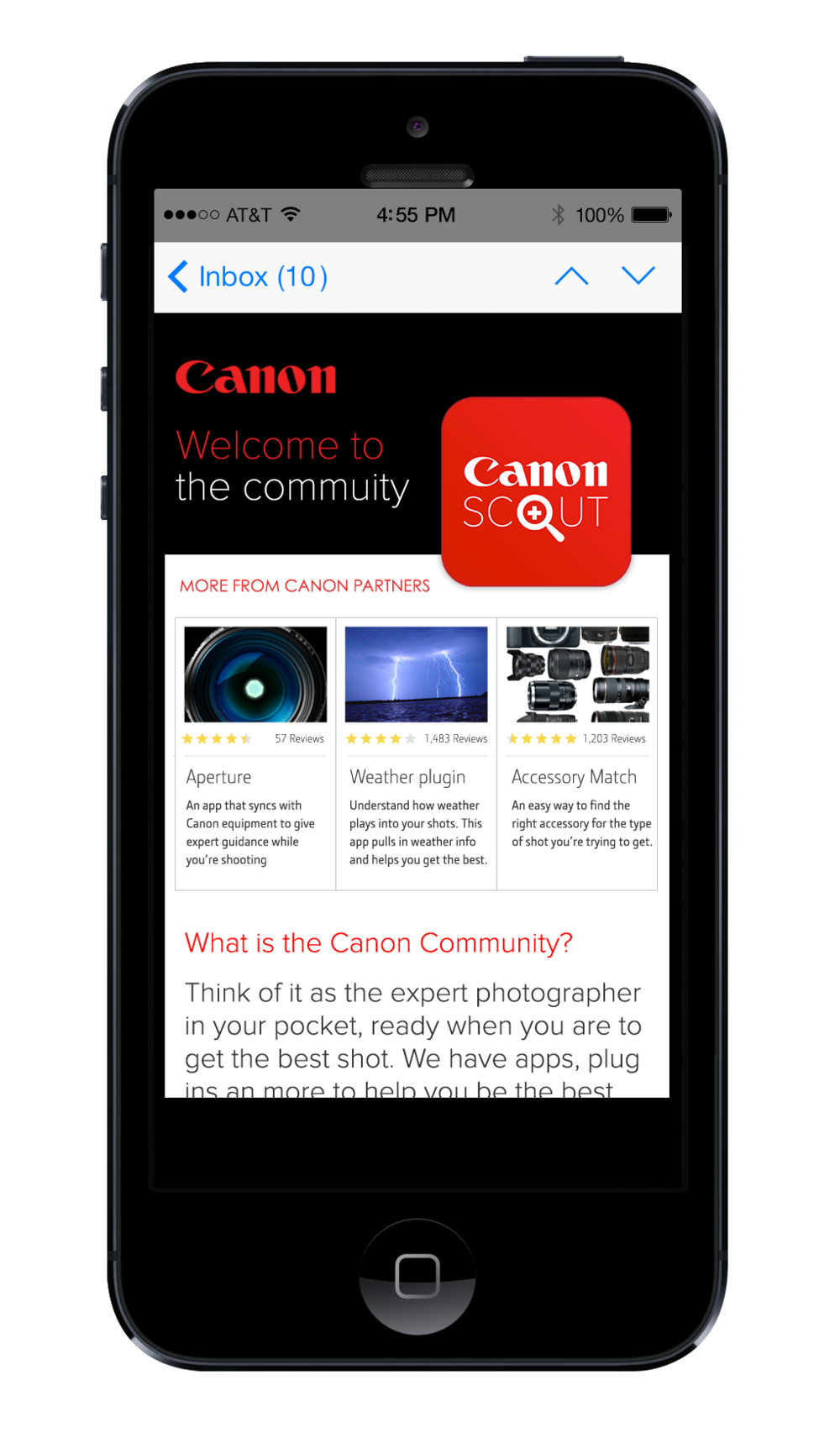Canon API: Opening the community to other apps that support the Canon customer