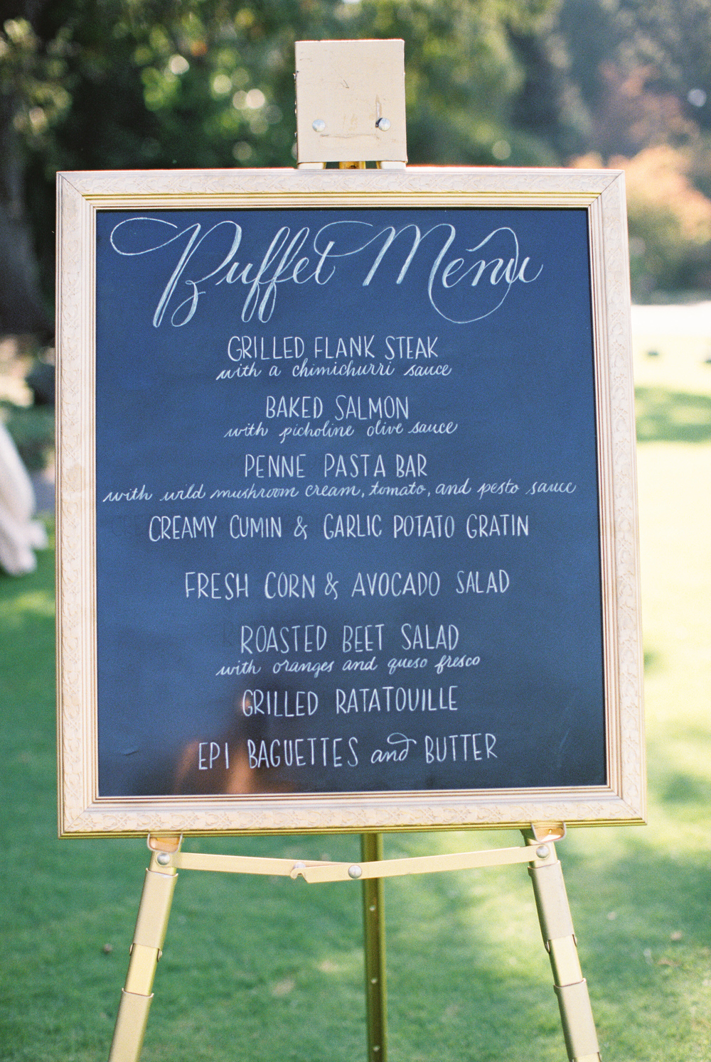 Menu sign by Calligraphellie