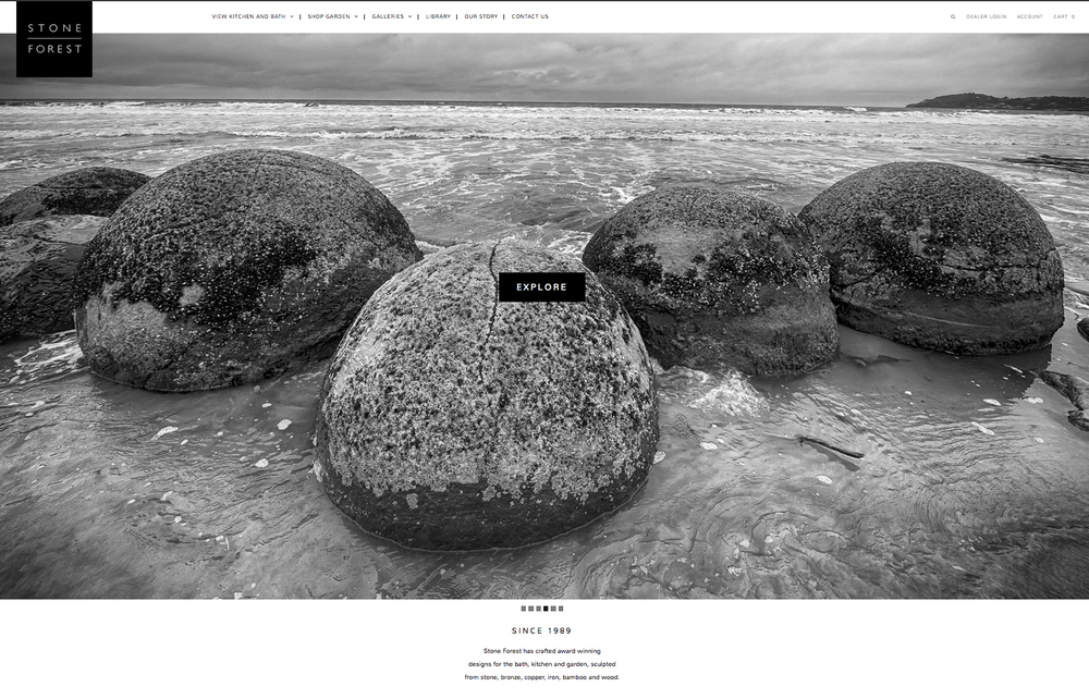 Website Re-design for  Stone Forest  with Think All Day