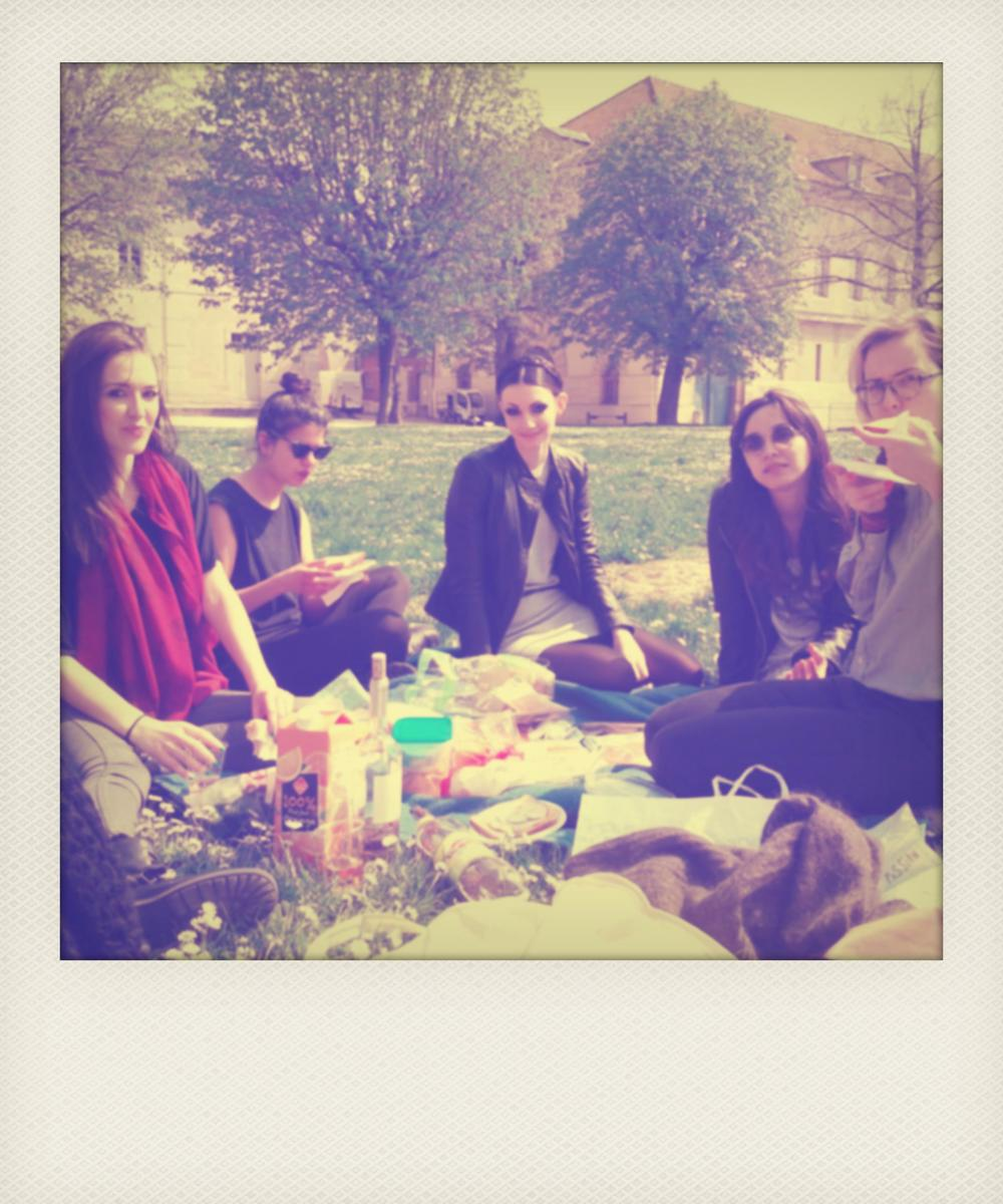 pre-shoot picnic with the crew