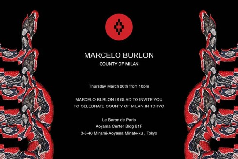 To commemorate the launch of his brand COUNTY OF MILAN in Japan, Marcelo Bulon, a connoisseur of New York, Milan and Paris fashion weeks' nightlife, finally presents a party during JAPAN FASHION WEEK. With the theme HIP HOP, the selectors include – besides   MARCELO BULON   himself – VERBAL, DARUMA, KIRI, DETTO K, and there will also be an exciting live performance from of-the-moment rapper KOHH. This is a unique party at the intersection of fashion, street, music and culture