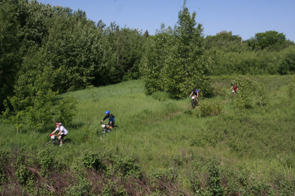 The Singletrack Loop with a jump