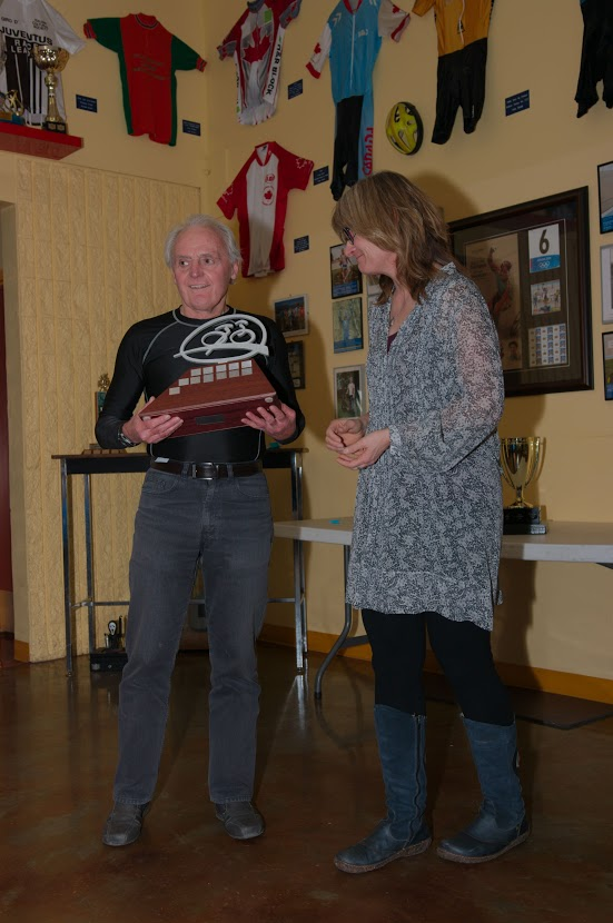 Clive Burke - Most Dedicated Cyclist 2014 - Definitely a crowd favourite.