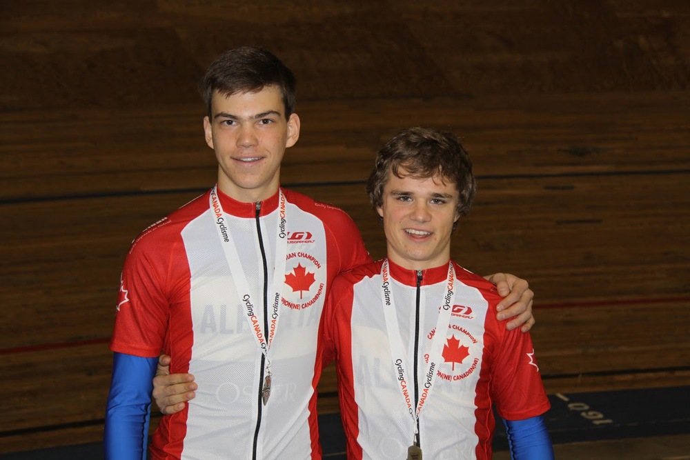 U17 and U19 National Track Champions 2014 - Stefan Ritter and Evan Burtnik