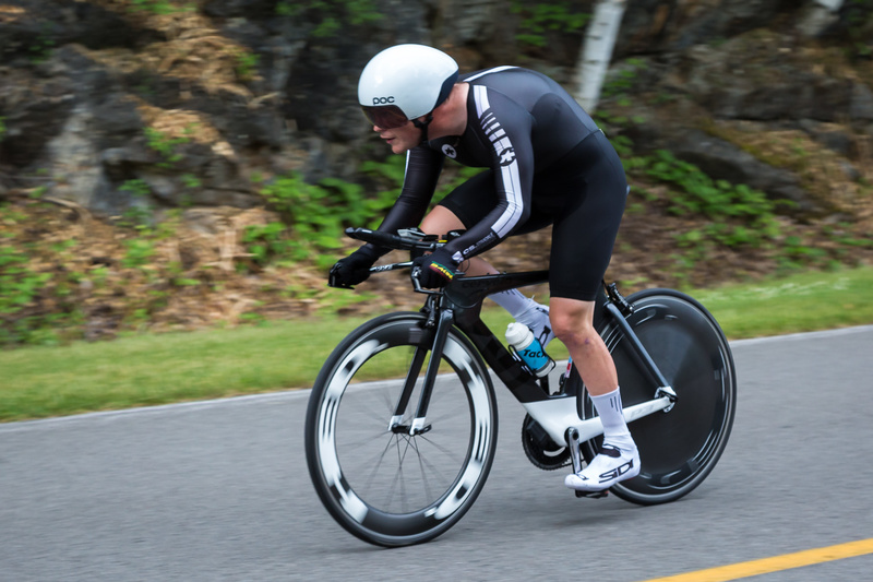 Ross Wilson racing the ITT at 2016 Para Road Nationals.
