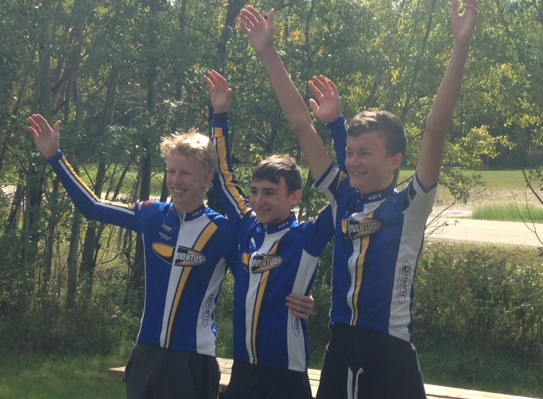 Alex, Matt, and Chris win the CAT 4-5 TTT (missing TTT team mate Luke)