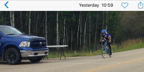 . . . and here is Matt finishing a solid team ride