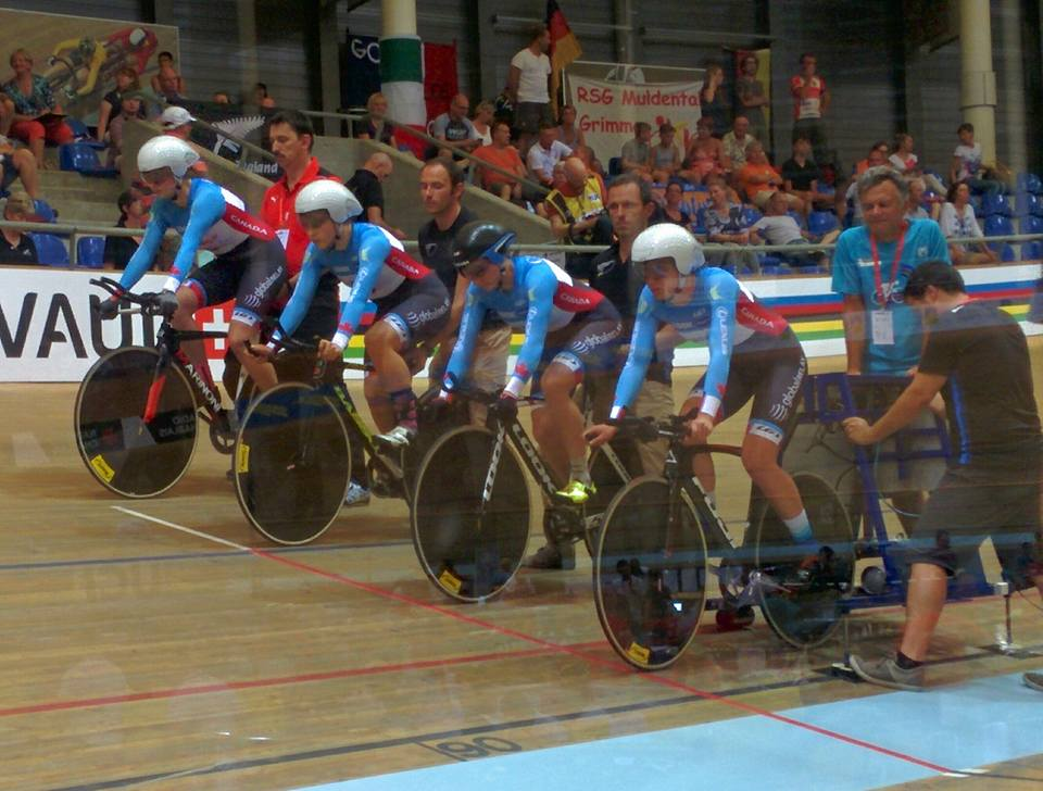 2016 Junior Track World Cycling Championships - Aigle, Switzerland - Junior Canadian Women's Team Pursuit